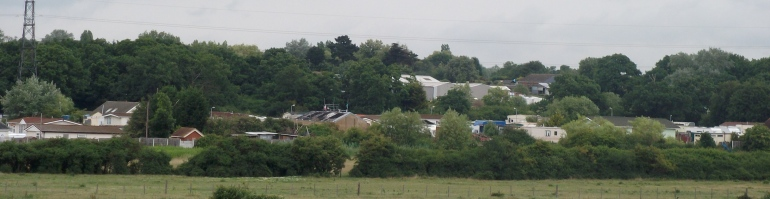 Panoramic view of Dale Farm